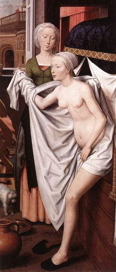 Bathsheba, Oil on wood, 1485 // Hans Memling (ca. 1440-1494), Staatsgalerie, Stuttgart