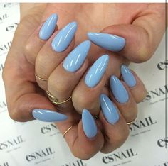 Robin Egg Blue gel nails are the way to go!
