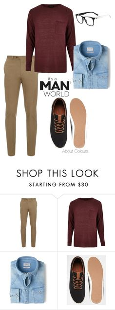"""It's a Man World"" by aboutcolours on Polyvore featuring Brioni, River Island, MANGO, Jack & Jones, Lacoste, men's fashion e menswear"