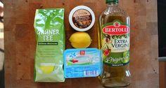 Pflegende Haarkur (Grüner Tee, Sheabutter, Zitrone, Quark, Oliven-/ Mandelöl)