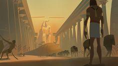 "problem-possum: "" bananasandguavas: ""prince of egypt color studies, about 1 hour for each "" "" Old Egypt, Ancient Egypt, Egypt Concept Art, Prince Of Egypt, Dreamworks Animation, Color Studies, Visual Development, Bible Art, Disney Pixar"