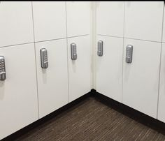 HAMILTON lockers with digital locks provide secure storage for multiple users