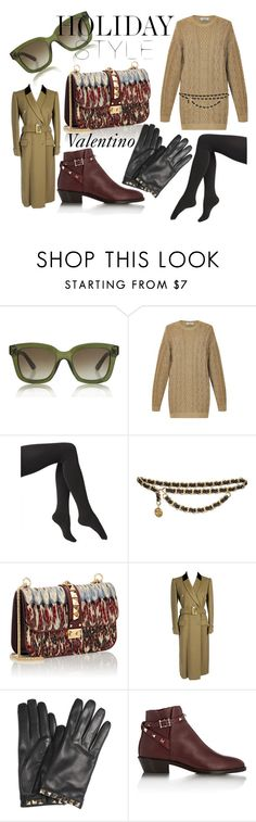 """""""Holiday Style Valentino"""" by marie-berge ❤ liked on Polyvore featuring Valentino, Via Spiga, Chanel, valentino, ROCKSTUD, holidaystyle and oversizeddress"""