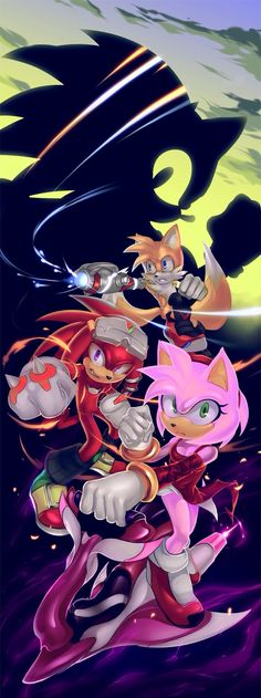 Sonic and his crew lookin fresh as ever Sonic The Hedgehog, Shadow The Hedgehog, Shadow And Amy, Sonic And Shadow, Sonic And Amy, The Sonic, Amy Rose, Sonic Underground, 8bit Art