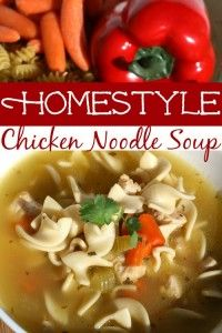 It doesn't get much better than a hot bowl of chicken noodle soup on a cold night. This Homestyle Chicken Noodle Soup recipe is fool-proof and oh so easy! It cooks up quickly and tastes like you spent hours! It's freezer friendly too!
