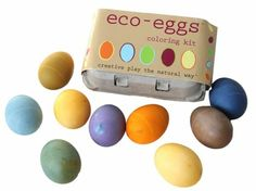 Beets, blueberries, carrots, spinach. The contents of our refrigerator? Nope, ingredients in eco-kids' art supplies like this egg dying kit.