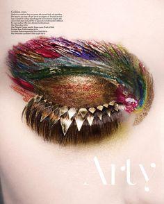 "make-up-is-an-art: "" Magazine: NK Stil Magazine Title: Arty Lyx Photographer: Sophie Dreijer Model: Chloe Legareux Makeup: Karin Westerlund "" Makeup At Home, Eye Makeup Art, Beauty Makeup, Makeup Wings, Makeup Drawing, Make Up Kits, Unique Makeup, Dramatic Makeup, Make Up Designs"