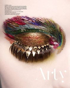 "Paint make up for eyes - ""Arty Lyx"", NK Stil magazine - makeup by Karin Westerlund, photo by Sophie Dreijer"