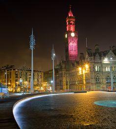 Bradford England, Bradford City, Yorkshire England, West Yorkshire, Yorkshire Sculpture Park, Night City, Park City, City Lights, Leeds