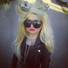 Kids Lady Gaga Costume, starring Kalina Jessica