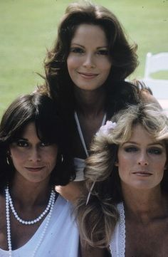 Picture of Kate Jackson  as Sabrina Duncan, Jaclyn Smith  as Kelly Garrett, Cheryl Ladd  as Kris Munroe  from Charlie's Angels They all had great hair.