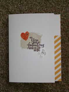 "The Happy Stamper: simple ""Work of Art"" card"