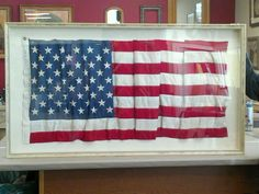 Another awesome, custom framed flag - this one a 48 star version, framed in Larson-Juhl 's Verona collection.