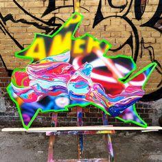 Nick Flatt cutout 2 - 2017 Acrylicspray paint on aluminium and Polystyrene panel - Ministry of Walls Streeart Gallery - The Urban art Broker Shop New Series, Urban Art, Graffiti, Art Gallery, Punk, Ministry, Walls, Happy Art, Cologne