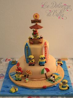 my cake Minions themed, to my twins Mattia e Nicolò...