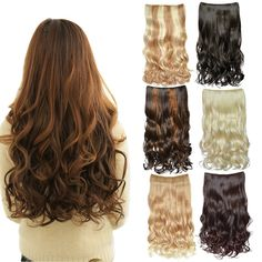 DEEKA Curly 3/4 Full Head Clip in Hair Extension One Piece 5 Clips 130g/4.6oz - Blonde -- This is an Amazon Affiliate link. To view further for this item, visit the image link.
