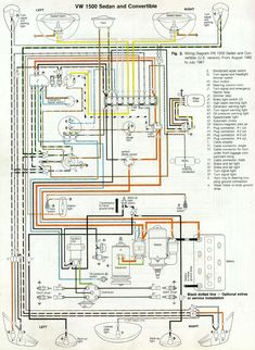 electrical wiring diagrams beetle 1971 electrical wiring rh pinterest com 1971 vw bug wiring diagram 1971 vw super beetle wiring diagram