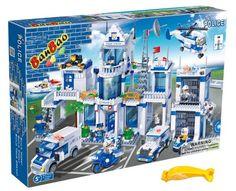 Banbao 8353 Big Police Station Set (Compatible with Legos) with Block Remover Police Station, Legos, How To Remove, Big, Amazon, Lego, Amazons, Riding Habit, Logos