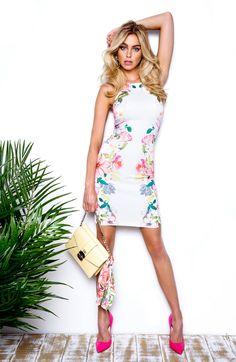 Buena Scuba-Knit Midi Dress | GUESS.com