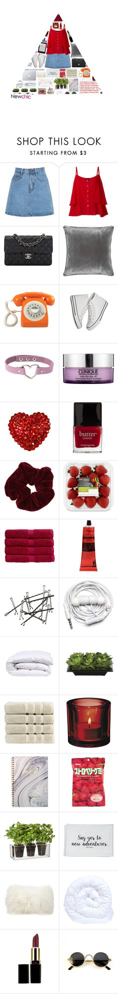 """""""NewChic Style ♡ 16"""" by lanadelnotyou ❤ liked on Polyvore featuring Chanel, M&Co, GPO, Clinique, Tarina Tarantino, Butter London, Miss Selfridge, Christy, Aesop and Urbanears"""
