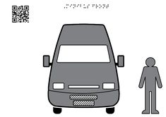 Minibus facade - Tactile Images Encyclopedia Visual Learning, Cargo Van, Man Standing, Group Travel, Learning Disabilities, Motor Car, In The Heights, Facade, Two By Two