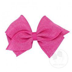 Mini king soft burlap bow.