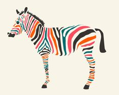 Zebra Art Print  #luvocracy #illustration #design