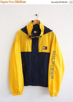 SALE 25% TOMMY Hilfiger Windbreaker Xlarge by CaptClothingVintage