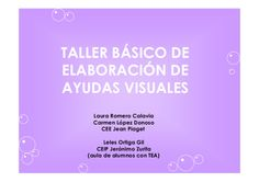 Taller basico elaboracion Ayudas Visuales - Aura Romero Calavia, Ca...