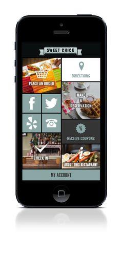 Flat metro design for restaurant mobile app by Kateryna Zozulya , via Behance