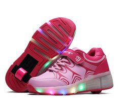 27.12$  Watch more here  - hot New LED girls boys Jazzy Junior girls boys  roller skate shoes for children kids sneakers with wheels