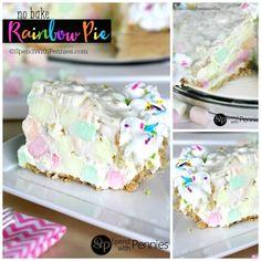 No Bake Rainbow Pie