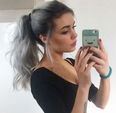 Ombre hair is a change of the hair color from dark into bright and vice versa. The hair color can be different.Look our ombre hair color ideas Ponytail Hairstyles, Hairstyles With Bangs, Hair Ponytail, Hairstyles Haircuts, Wedding Hairstyles, Wave Hairstyles, Beehive Hairstyle, Ladies Hairstyles, Brunette Hairstyles