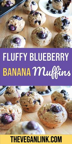Make your own vegan fluffy blueberry banana muffins! This recipe uses common household ingredients like flour, coconut sugar, frozen blueberries, bananas and oats. These muffins are a great vegan desert or breakfast snack (if you're feeling extra sweet.) The batter makes 12 muffins and they last for up to a week in an air tight container. Try our easy and simple fluffy blueberry and banana muffins!