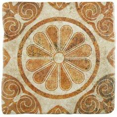Costa Arena Decor Daisy 7-3/4 in. x 7-3/4 in. Ceramic Floor and Wall Tile (11.5 sq. ft. / case)