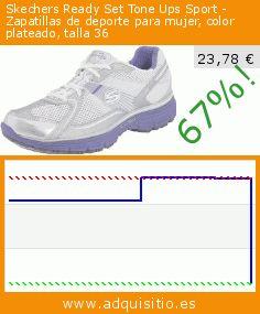 Skechers Ready Set Tone Ups Sport - Zapatillas de deporte para mujer, color plateado, talla 36 (Ropa). Baja 67%! Precio actual 23,78 €, el precio anterior fue de 71,75 €. https://www.adquisitio.es/skechers/ready-set-tone-ups-sport-8