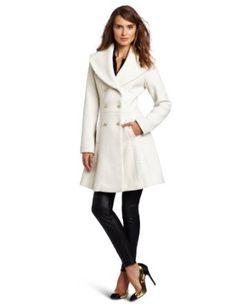 Jessica Simpson Women's Novelty Wool Double Breasted Walker Coat, $149.00.