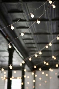 Twinkle Lights for an outside wedding
