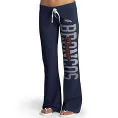 Denver Broncos '47 Brand Womens Pep Rally Pants – Navy Blue