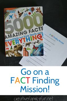 Help your kids explore a nonfiction book with a fact finding mission.