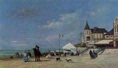 Eugène Boudin - La Plage de Trouville (1863)