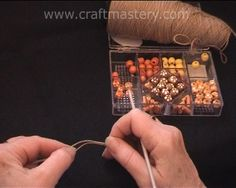 How to crochet with beads video