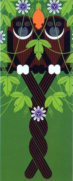 Charley Harper - Love on a Limb