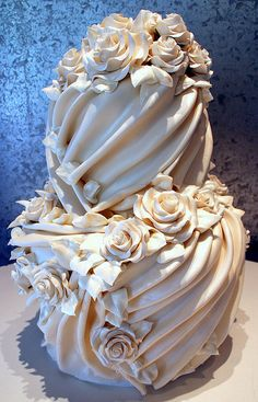 Draped Fondant Roses Cake