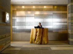 Terrific reception desk ontario for 2019 Reception Desk Design, Lobby Reception, Reception Counter, Office Reception, Reception Areas, Lobby Interior, Office Interior Design, Hotel Interiors, Office Interiors