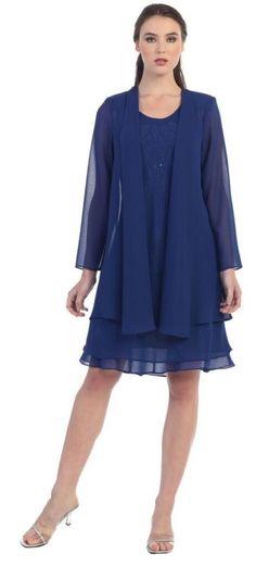 Wedding Event Dress /Jacket Mother of Bride/Groom Short Formal Gown Bridesmaids