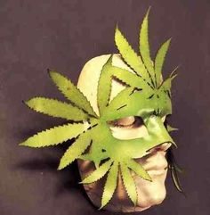 Artisan Leather Masks - The Cannabis Leaf Mask Carnival Masks and More (GALLERY)