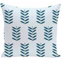 Simply Daisy 16 inch x 16 inch Petal Pusher Floral Print Pillow, Blue