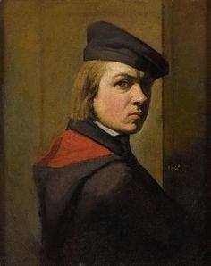 Jean-Jacques Henner - Autoportrait, 1847 - Musée National Jean-Jacques Henner, Paris