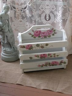 Shabby Chic Magazine Rack Shabby Chic Pink Roses by Fannypippin,